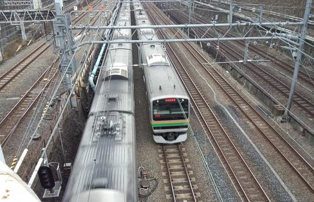 東海道線と湘南新宿ライン