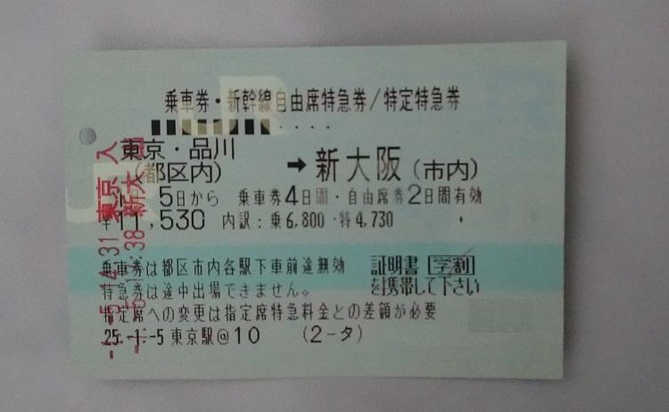 学割の例(新幹線)