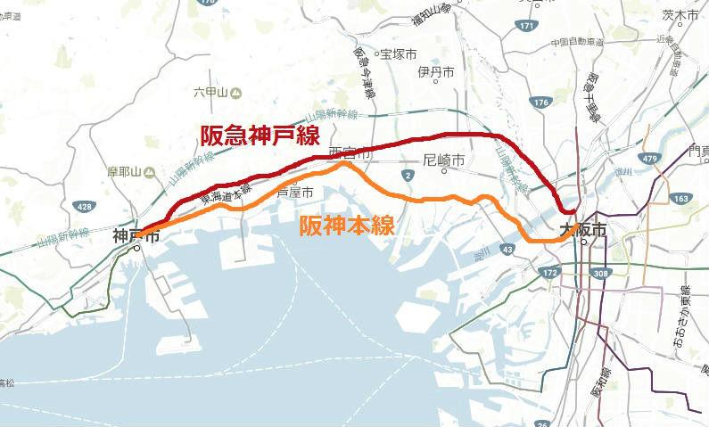 阪急と阪神の比較