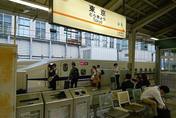 東海道新幹線の東京駅の自由席