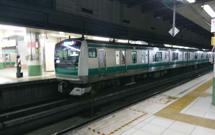 大宮駅地下ホームにある埼京線、川越線
