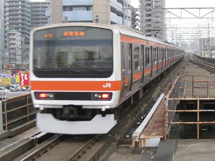 JR武蔵野線の朝ラッシュの時間帯・駅間別の混雑率