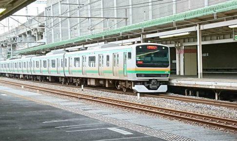 東海道線の夕方