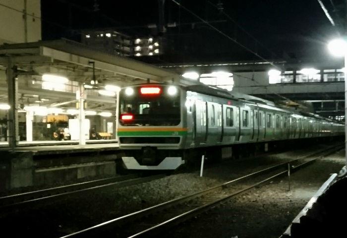 上野東京ラインの帰宅ラッシュ