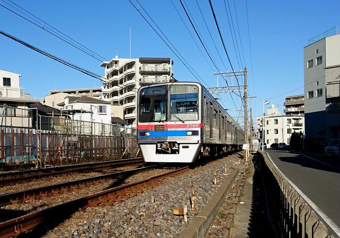 1,435mm(標準軌)のレール幅の京成線