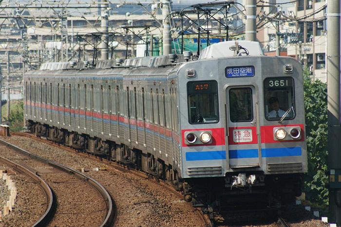 混雑しやすい京成本線の通勤特急