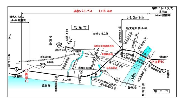 信号機が多い浜松バイパス