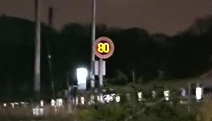 制限速度80km/hの高速道路の取り締まり