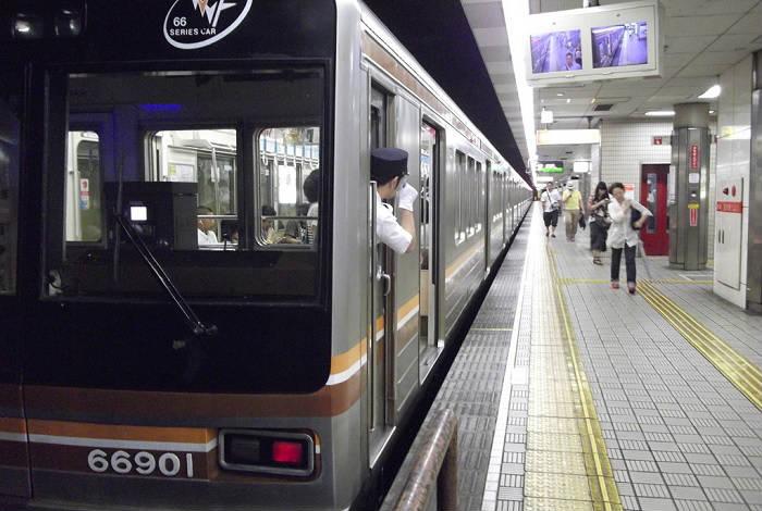 堺筋線の通勤ラッシュの混雑