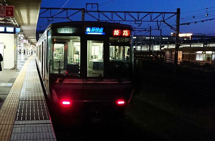 帰宅ラッシュのJR神戸線