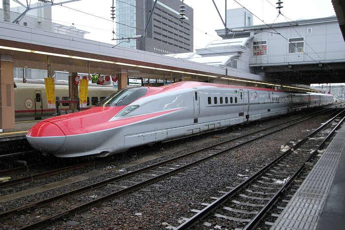 秋田新幹線こまち号の混雑