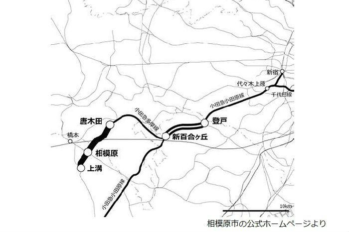 小田急多摩線の延伸ルート