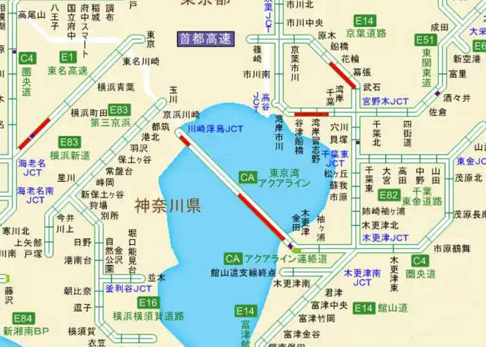 東京湾アクアラインの渋滞