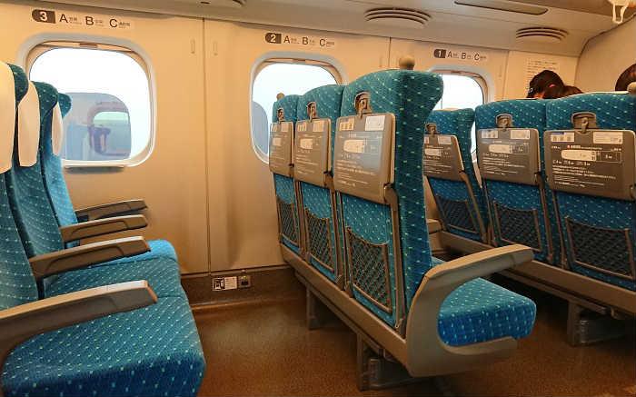 山陽新幹線の自由席の空席