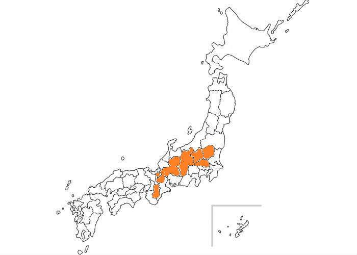 海なし県の地図