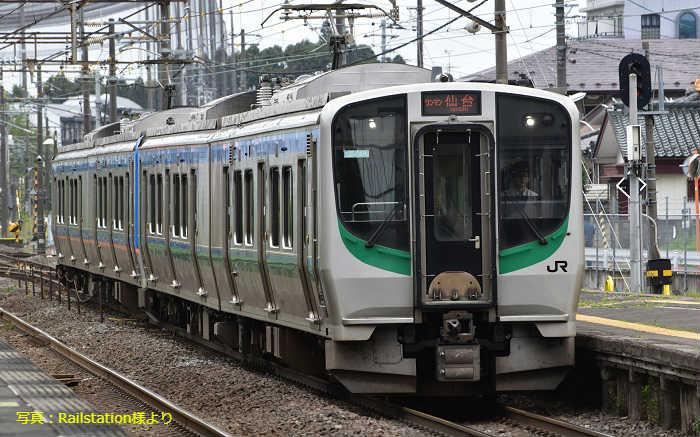 東北本線の仙台地区の通勤ラッシュ