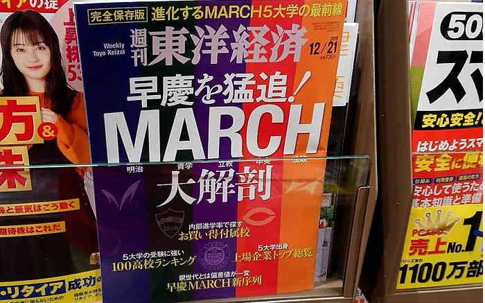 村田製作所の最低ボーダーのGMARCH、関関同立