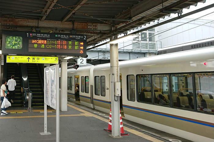 混雑する奈良線